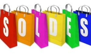 Soldes Shopping Bags opened and closed